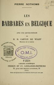 Cover of: Les barbares en Belgique \