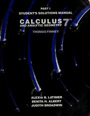 Cover of: Calculus and analytic geometry