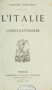 Cover of: L'Italie et Constantinople