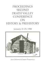 Cover of: Proceedings Second Death Valley Conference on History & Prehistory