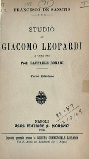 Cover of: Studio su Giacomo Leopardi