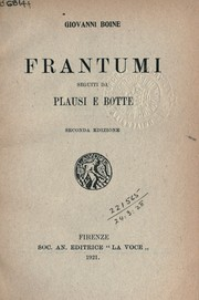 Cover of: Frantumi