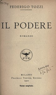 Cover of: Il podere