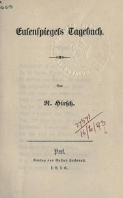 Cover of: Eulenspiegels Tagebuch