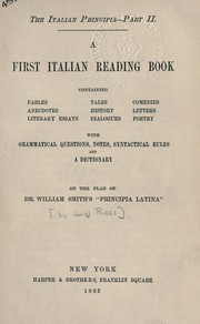 Cover of: The Italian Principia