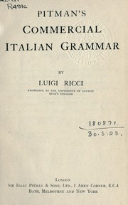 Cover of: Commercial Italian grammar