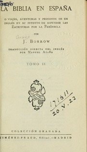 Cover of: La Biblia en España