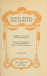 Cover of: Samuel Brohl and Company