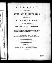 Cover of: Account of the Russian discoveries between Asia and America