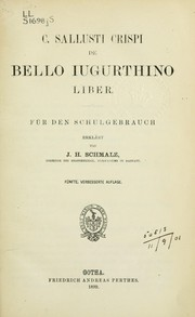 Cover of: Jugurtha: for use in schools