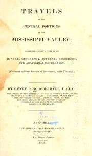 Cover of: Travels in the central portions of the Mississippi valley