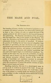 Cover of: The mare and foal