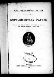 Cover of: Supplementary papers