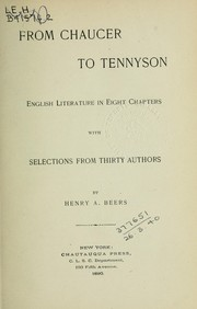 Cover of: From Chaucer to Tennyson