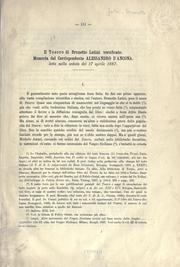 Cover of: Il tesoro di Brunetto Latini versificato