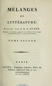 Cover of: Mélanges de littérature