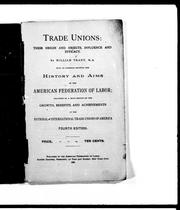 Cover of: Trade unions