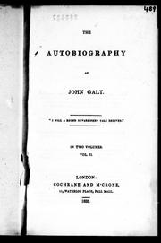 Cover of: The autobiography of John Galt