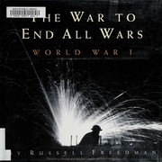 Cover of: The war to end all wars