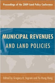 Cover of: Municipal revenues and land policies