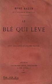 Cover of: Le blé qui lève