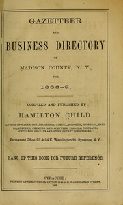 Cover of: Gazeteer and business directory of Madison County, N.Y., for 1868-9