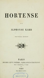 Cover of: Hortense