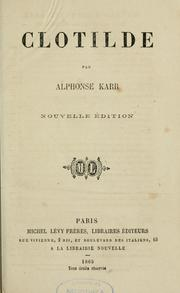 Cover of: Clotilde