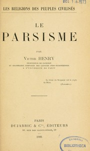 Cover of: Le parsisme
