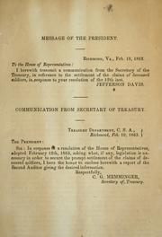 Cover of: Communication from Secretary of Treasury