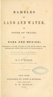 Cover of: Rambles by land and water
