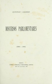 Cover of: Discursos parlementares