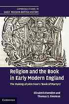 Cover of: Religion and the book in early modern England