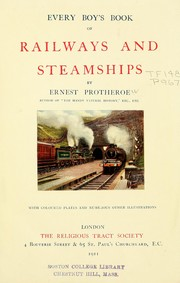 Cover of: Every boy's book of railways and steamships