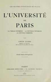 Cover of: L' Université de Paris