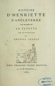 Cover of: Histoire d'Henriette d'Angleterre