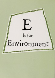 Cover of: E is for environment