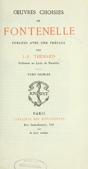 Cover of: Oeuvres choisies de Fontenelle