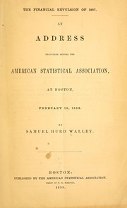 Cover of: The financial revulsion of 1857