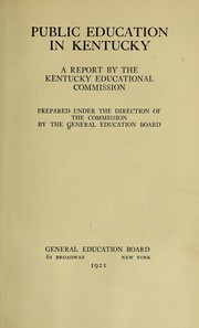 Cover of: Public education in Kentucky