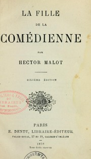 Cover of: La Fille de la comédienne