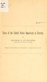 Cover of: Trees of the United States important in forestry