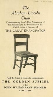 Cover of: The Abraham Lincoln chair