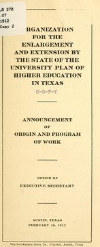 Cover of: Announcement of origin and program of work ...