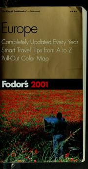 Cover of: Fodor's 2001 Europe