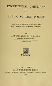 Cover of: Exceptional children and public school policy