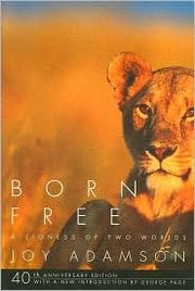 Cover of: Born free