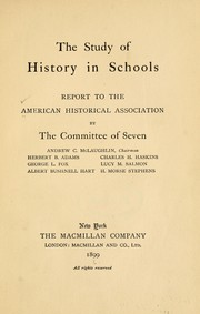 Cover of: The study of history in schools