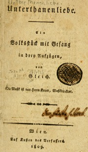 Cover of: Unterthanenliebe