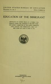 Cover of: Education of the immigrant